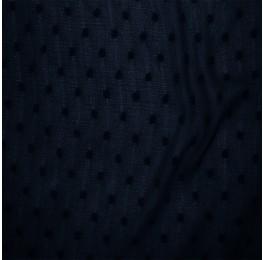Crinkled Dobby Spot Chiffon Navy