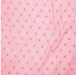 Crinkled Dobby Spot Chiffon Pink