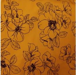 Hi Multi Chiffon Floral Yellow Print