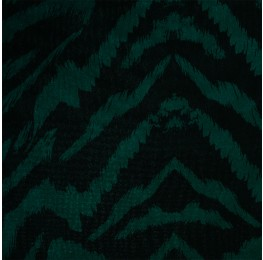 Hi Multi Chiffon Green Black Animal Print
