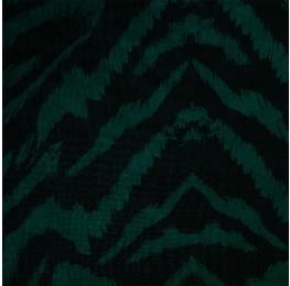 Hi Multi Chiffon Green Black Animal Print