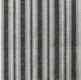 Linen Block Stripe Black
