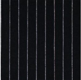 Linen Dotted Stripe Black