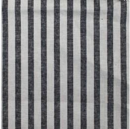Linen Stone Washed Stripe Black