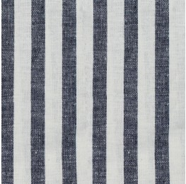 Linen Stone Washed Stripe Navy