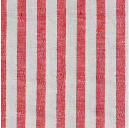 Linen Stone Washed Stripe Red