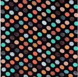 Madrid Multi Colour Spot Black Base