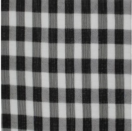 Medium Check Chiffon Yoryu Black White