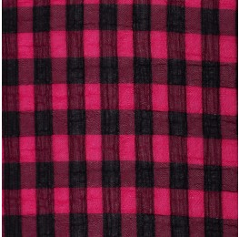 Medium Check Chiffon Yoryu Cerise Black