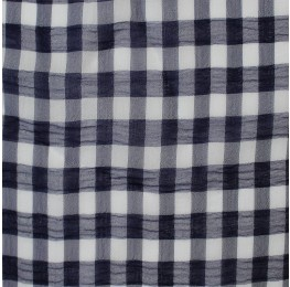 Medium Check Chiffon Yoryu Navy White