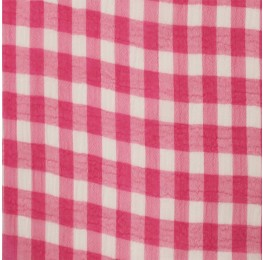 Medium Check Chiffon Yoryu Pink White