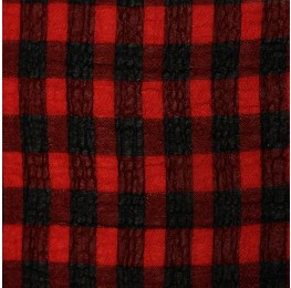 Medium Check Chiffon Yoryu Red Black