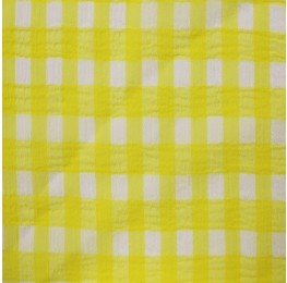 Medium Check Chiffon Yoryu Yellow White