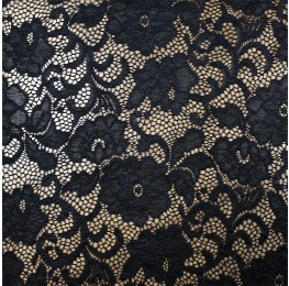 Floral Nylon Lace Black