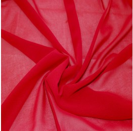 Silky Chiffon Ruby Red