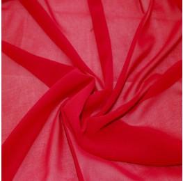 Silky Chiffon Ruby Red