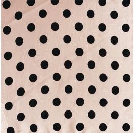 Silky Morrocain Print Blush Base Black Spot