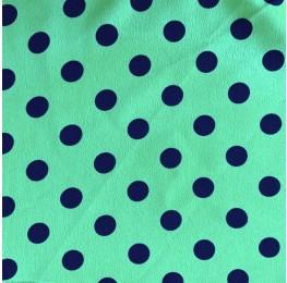 Silky Morrocain Print Turquoise Base Blue Spot