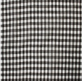 Small Check Chiffon Yoryu Black White
