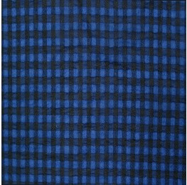 Small Check Chiffon Yoryu Blue Black