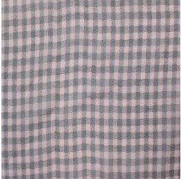 Small Check Chiffon Yoryu Blush Grey
