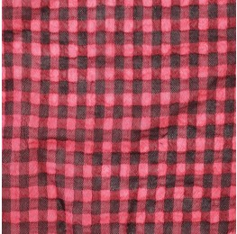 Small Check Chiffon Yoryu Coral Black