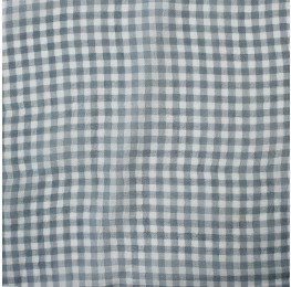 Small Check Chiffon Yoryu Grey Ivory