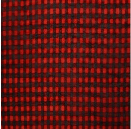 Small Check Chiffon Yoryu Red Black