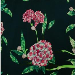 Superior Georgette Green Pink Floral