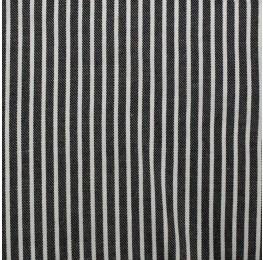Viscose Yarn Dyed Stripe Black