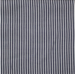 Viscose Yarn Dyed Stripe Navy