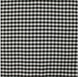 Woven Check CN-2000A D#3 Black White