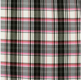 Woven Check Black Pink White