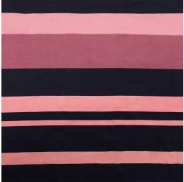 Viscose Twill Indigo Pink Stripe