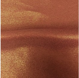Zara Satin Back Crepe Foil Satin Side Terracotta Gold