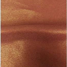 Zara Satin Back Crepe Foil Satin Side Terracotta Gold