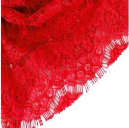 Eyelash Lace Red