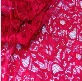 Floral Corded Lace Berry