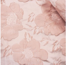 Solid Satin Jacquard Rose