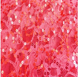 Sequin Lace Coral