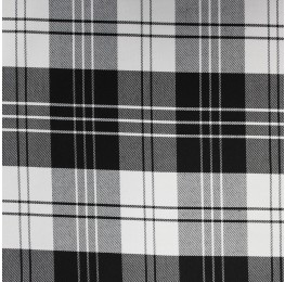Woven Check NS-2000A D#4 Black White