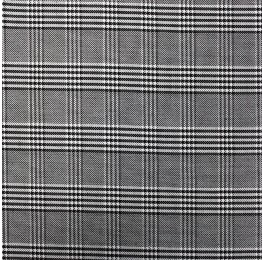 Woven Check NS-2000A D#6 Black White