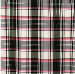 Woven Check Black Pink White
