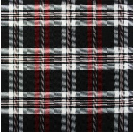 Woven Check ST20157 Black White Red